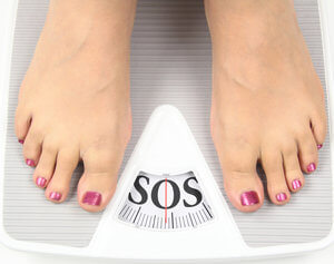 Why do the bathroom scales not show weight loss?